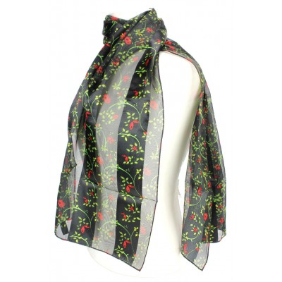 Scarf - Silk Feel Touch - Lady Bugs - SF-ON1532BK