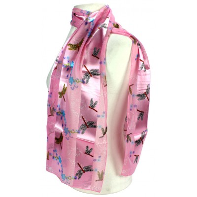 Scarf - Silk Feel Touch - Dragonfly - SF-ON1562PK