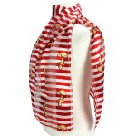 Scarf - Silk Feel Touch - Anchor w/ Stripes - SF-ON2013RD