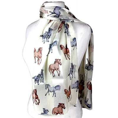 Scarf - Horses Prints - SF-ON2027IV