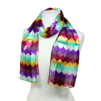 Scarf - 12pcs Geometry Print Scarves - SF-SSPO30624VLAO