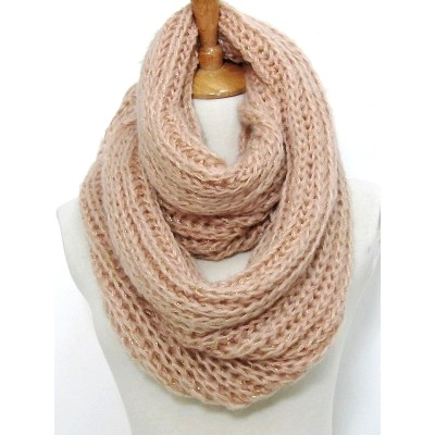 Infinity Scarf - Knitted Chain w/ Glittery Thread - SF-CG282