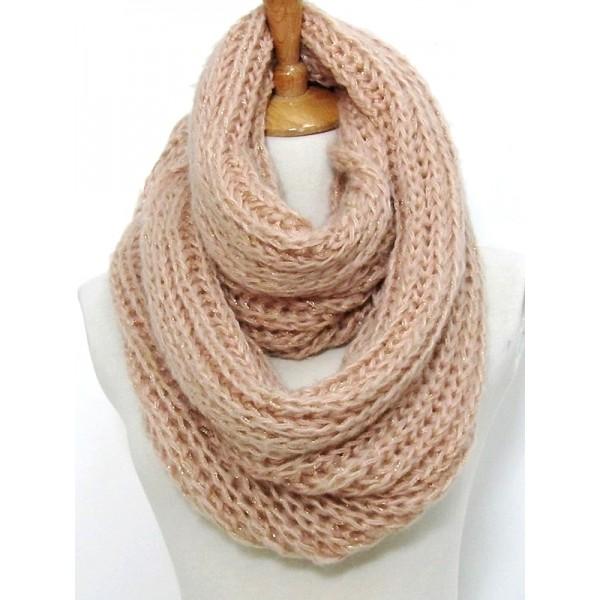 Infinity Scarf - Knitted Chain w/ Glittery Thread - SF-CG282