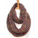 Infinity Scarf – Rib Stitches – Brown/ Multi - SF-CG402