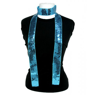 Scarf - Square Sequined Scarf - Blue - SF-SFS109103
