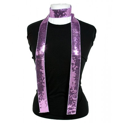 Scarf - Square Sequined Scarf - Lilac - SF-SFS109104