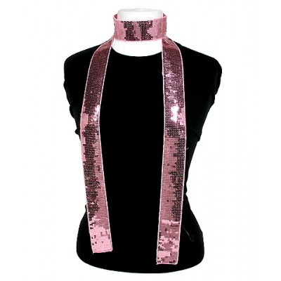 Scarf - Square Sequined Scarf - Light Pink - SF-SFS109105