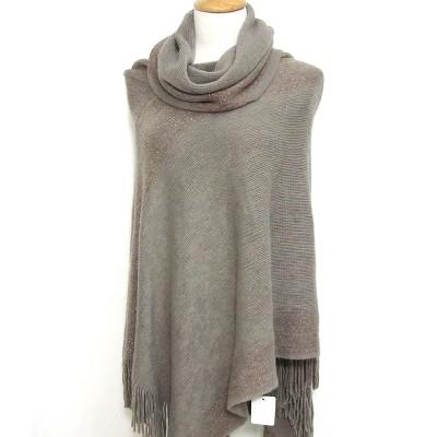 Shawl – Knitted Accent w/ Golden Thread - SF-CG174