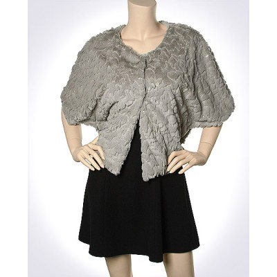 Scarf - Shawl / Wrap : Faux Fur Sequine Clip Button - SF-FFSC3848TP