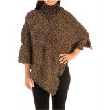 Poncho/ Shawl - Knitted Turtleneck - SF-FW242BN