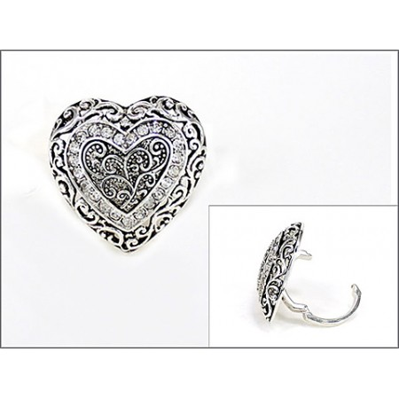 Scarf Ring - Rhinestone Paved Angel Charm - SR-OG00086ASCRY