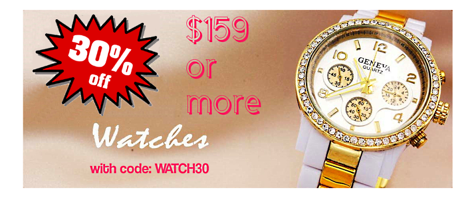 30% off All watches Sale @FashionWholesaler.com